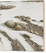 Stone Flow Wood Print