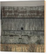 Stone Foundation Barn Wood Print