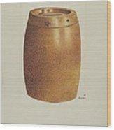 Stone Fruit Jar With Star Wood Print