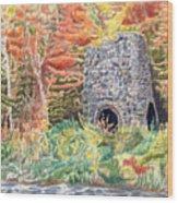 Stone Furnace Wood Print
