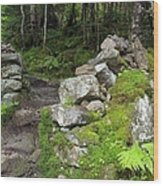 Stone Gate - Edmands Path - White Mountains New Hampshire  Wood Print