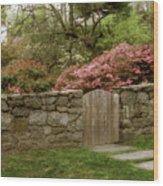Stone Gate Wood Print