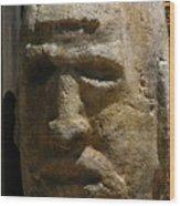 Stone Head Wood Print