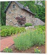 Stone House Fishers Indiana Wood Print