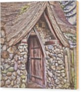 Stone House In Skagit County Wood Print