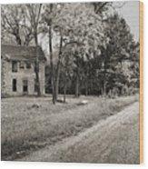 Stone House Road Wood Print