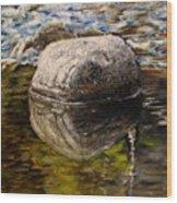Stone landscape original oil painting Wood Print