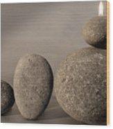 Stone Light Wood Print