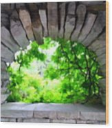 Stone Lookout Wood Print