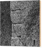 Stone Mason Scars Monochrome Wood Print