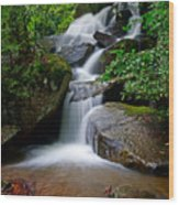 Stone Mountain Falls Wood Print