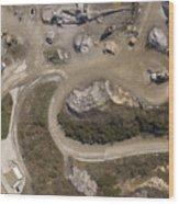 Stone Quarry Aerial Wood Print