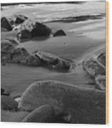 Stone Shore Wood Print