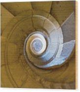Stone Spiral Wood Print