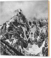 Stone Spire And Bowl Glacier Wood Print