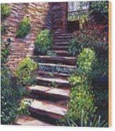 Stone Steps Tuscany Wood Print