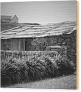 Stone Structure Doolin Ireland Wood Print