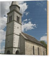 Stone Tile Roof Of The Church Of The Holy Cross In Tomaj Parish  Wood Print
