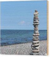 Stone Towers Wood Print