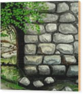 Stone Tunnel Wood Print