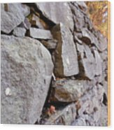 Stone Wall 2 Wood Print
