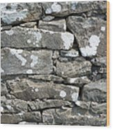 Stone Wall Detail Doolin Ireland Wood Print