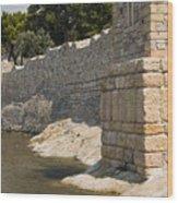 Stone Wall In Foca Wood Print