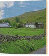 Stone Wall Lake District - P4a16012 Wood Print