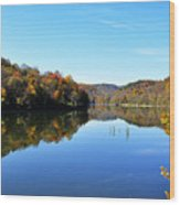 Stonecoal Lake In Autumn Color Wood Print