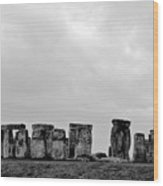 Stonehenge - B/w 2 Wood Print