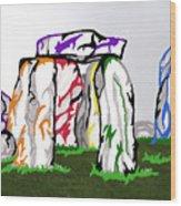 Stonehenge Chakras Wood Print