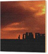 Stonehenge Impasto 2 Wood Print