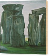 Stonehenge In Spring 2 Wood Print