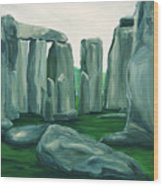 Stonehenge In Spring Wood Print
