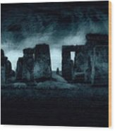 Stonehenge Mood Wood Print