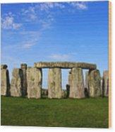 Stonehenge On A Clear Blue Day Wood Print by Kamil Swiatek