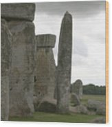 Stonehenge Side Pillars Wood Print