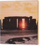 Stonehenge Winter Solstice Wood Print