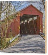 Stonelick Covered Bridge Wood Print