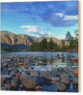 Stones By The Similkameen Wood Print