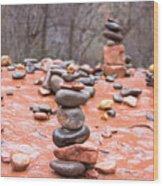 Stones In Balance Wood Print