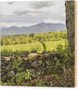 Stonewall And Cannon Mountain Wood Print