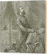 Stonewall Jackson Before The Battle Wood Print