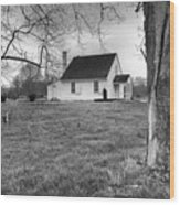 Stonewall Jackson House Wood Print