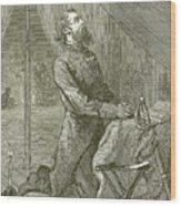 Stonewall Jackson Praying Before The Battle Wood Print