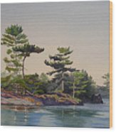 Stoney Lake Morning Wood Print