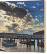 Stonington Lobster Boats Wood Print