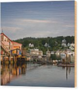 Stonington Lobster Co-op Wood Print