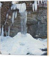 Stony Kill Falls In February #2 Wood Print