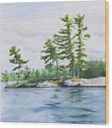 Stony Lake Afternoon Wood Print